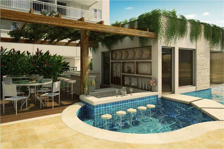 Piscina Com Bar Molhado Piscinas Pinterest Piscina