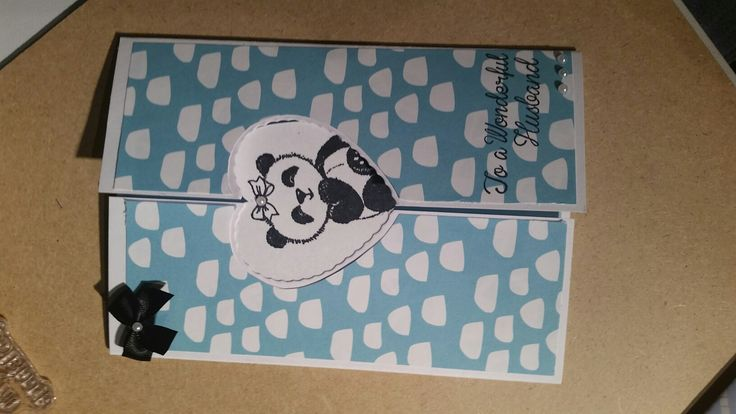 Wife to husband anniversary card. 2 of 3 in panda theme