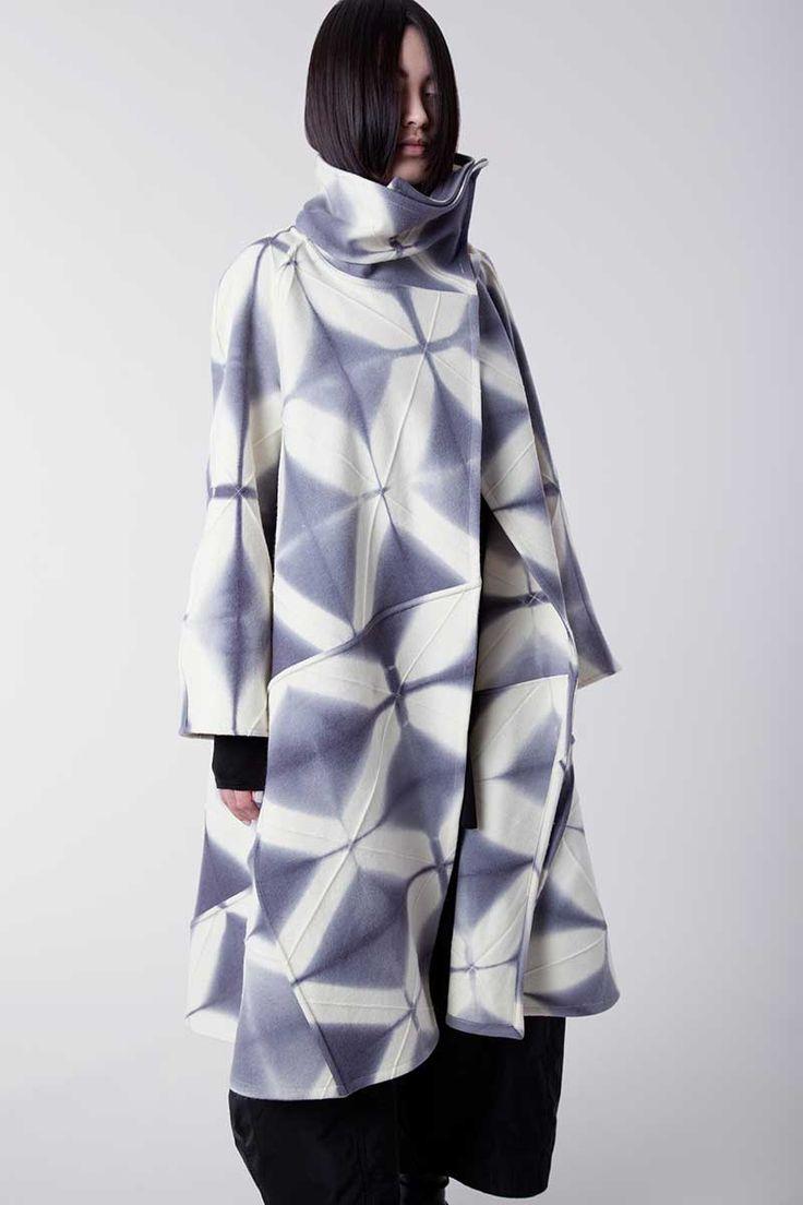 Amy Nguyen's shibori swing coat.