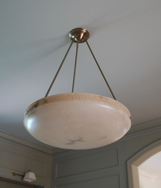 Alabaster Light Fixture With A Subtle Greek Pattern Wonderful Not Too Formal From Dining Room ChandeliersDining