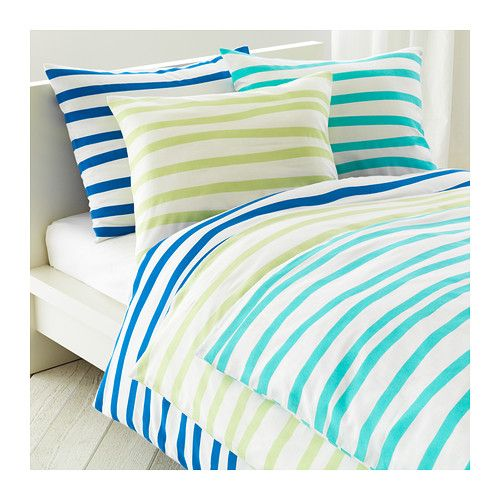 SPRINGKORN Duvet cover and pillowcase(s) - blue, Twin - IKEA