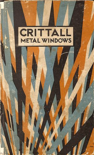 The title page to the 1932 Crittall metal windows catalogue. Crittall's are famous manufacturers of such windows that appeared in so ...