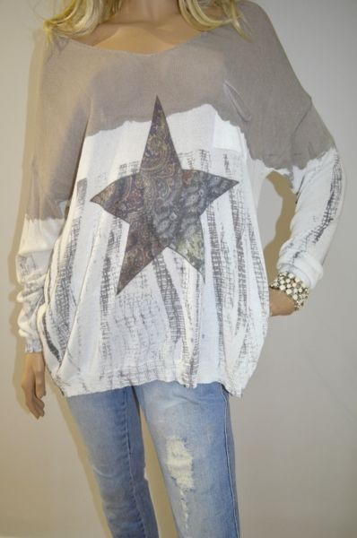 gorgeous knit with star front $195