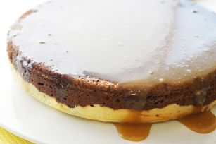 Chocolate-Sticky Toffee Pudding Cheesecake