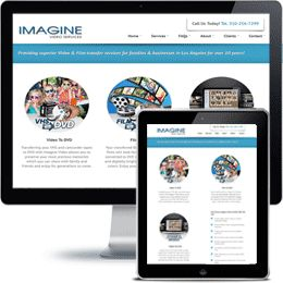 Imagine Video Services Company website built withPHP/HTML, JQuery using responsive web design.