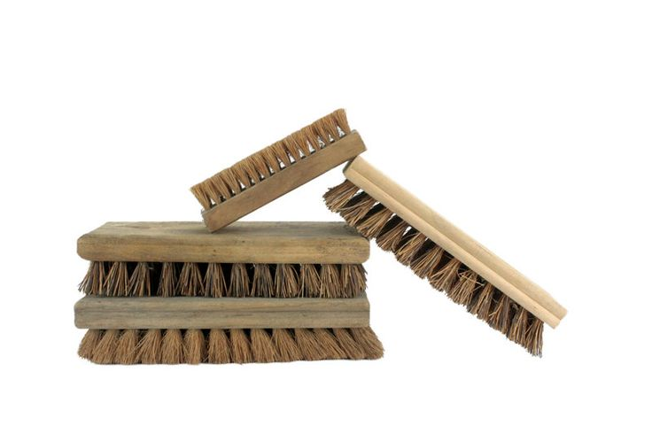 Vintage Natural Bristle Wooden Brushes // Antique Industrial Wooden Brush // Industrial Home Decor Wooden Brush Set by SFKvintage on Etsy
