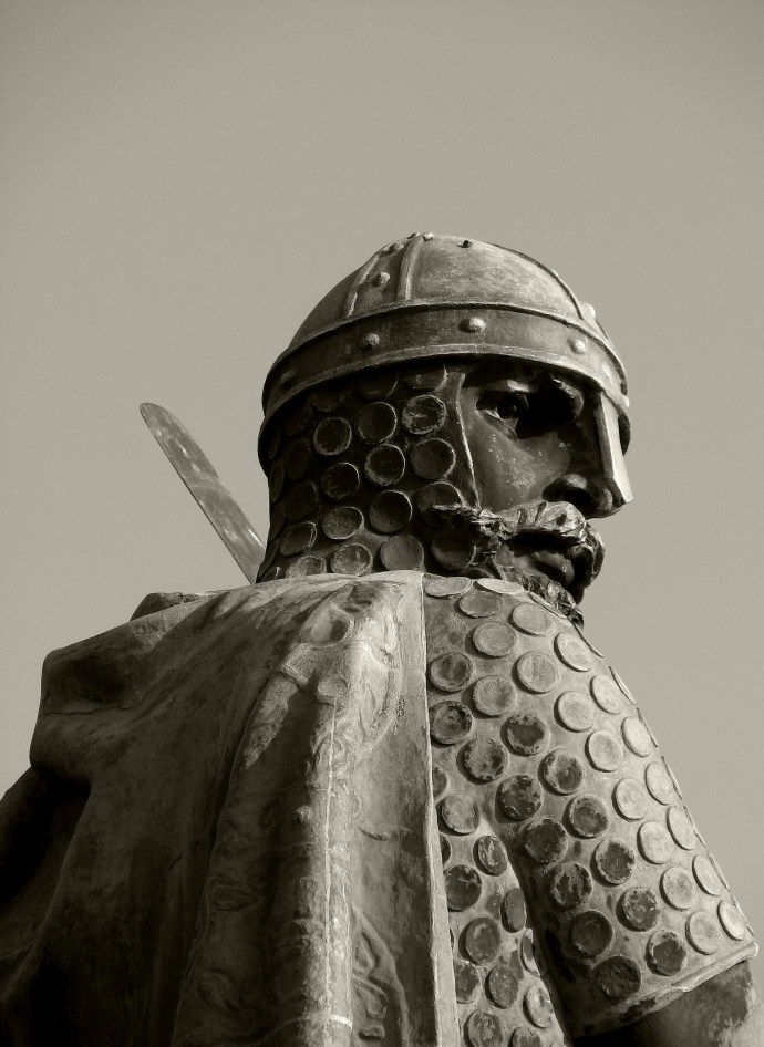 Afonso Henriques, first king of Portugal (Guimarães, Portugal).