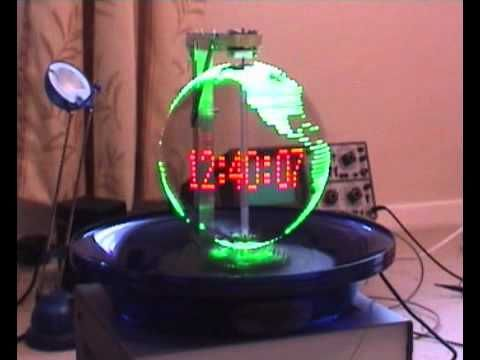 Persistance of vision Globe with propeller clock