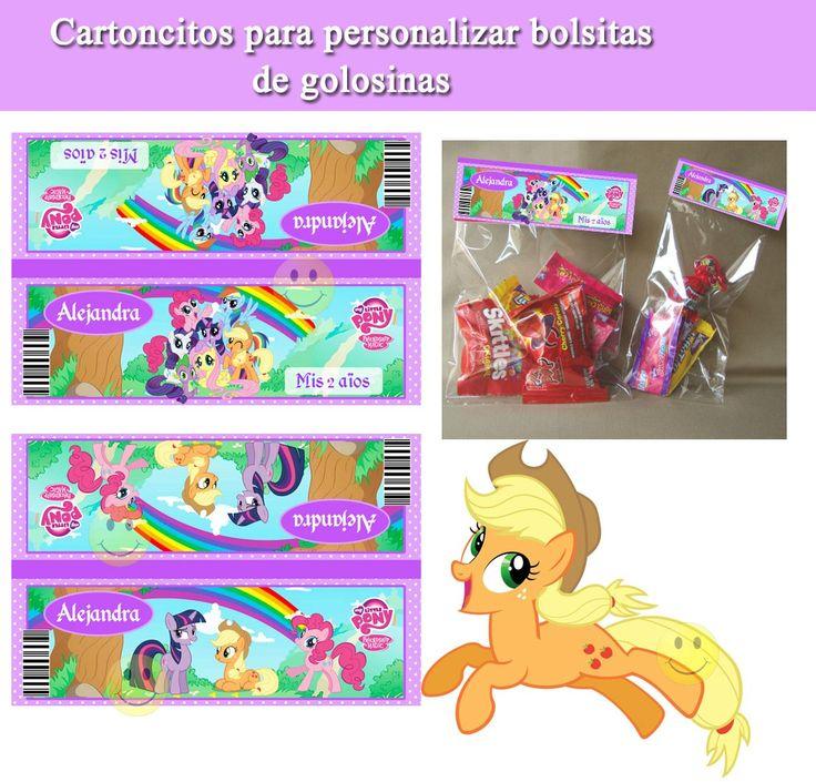 Kit Imprimible De My Little Pony - Incluye Candy Bar - $ 38,99 en MercadoLibre