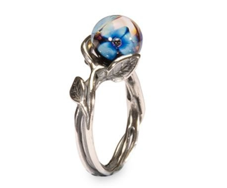 I have this ring and I wear it with another troll beads ring that has leaves and little pearls on. They fit together perfectly and so many people comment on it...