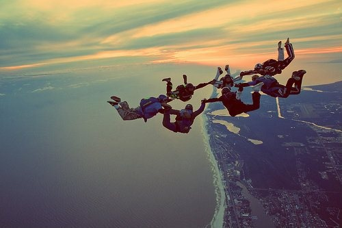 skydive with friends//