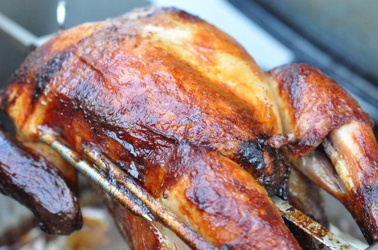 Kylling på grill med roterende grillspyd