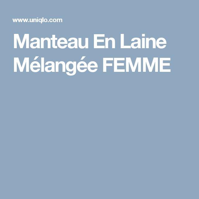 Manteau En Laine Mélangée FEMME