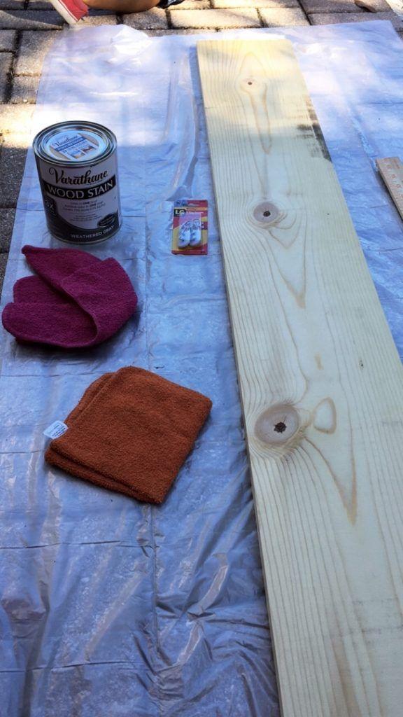 DIY Wooden Ruler Growth Chart