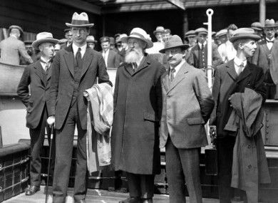 1921: Eamon de Valera, Arthur Griffiths and party colleagues following negotiations for the formation of the Irish Free State.Anglo-Irish Treaty correspondence released in eBook Communications between Michael Collins, Eamon de Valera and others involved in the negotiations are now available on Kindle and iPad.