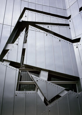 Jewish Museum, Berlin | facade detail | architect:   Daniel Libeskind - Diagonal Line
