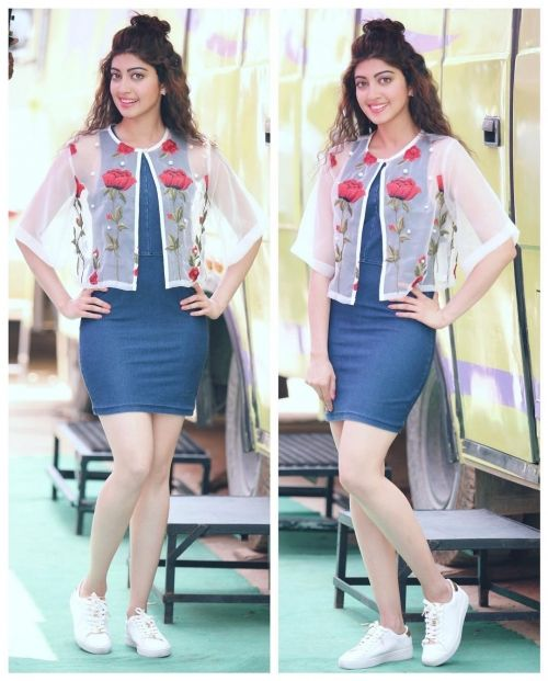 Pranitha Subhash Wears a Lovely Floral Combo