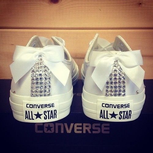 Custom Converse for Wedding | I kinda want to have these and wear them during the honeymoon :)