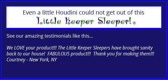 Sleeper Keepers- Pajamas that zip in the back