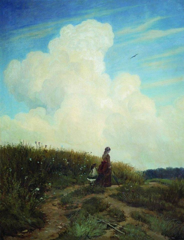 Really beautiful sky in this painting by Ivan Shishkin - Summer