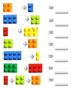 Lego Math Worksheets | Kindergarten |