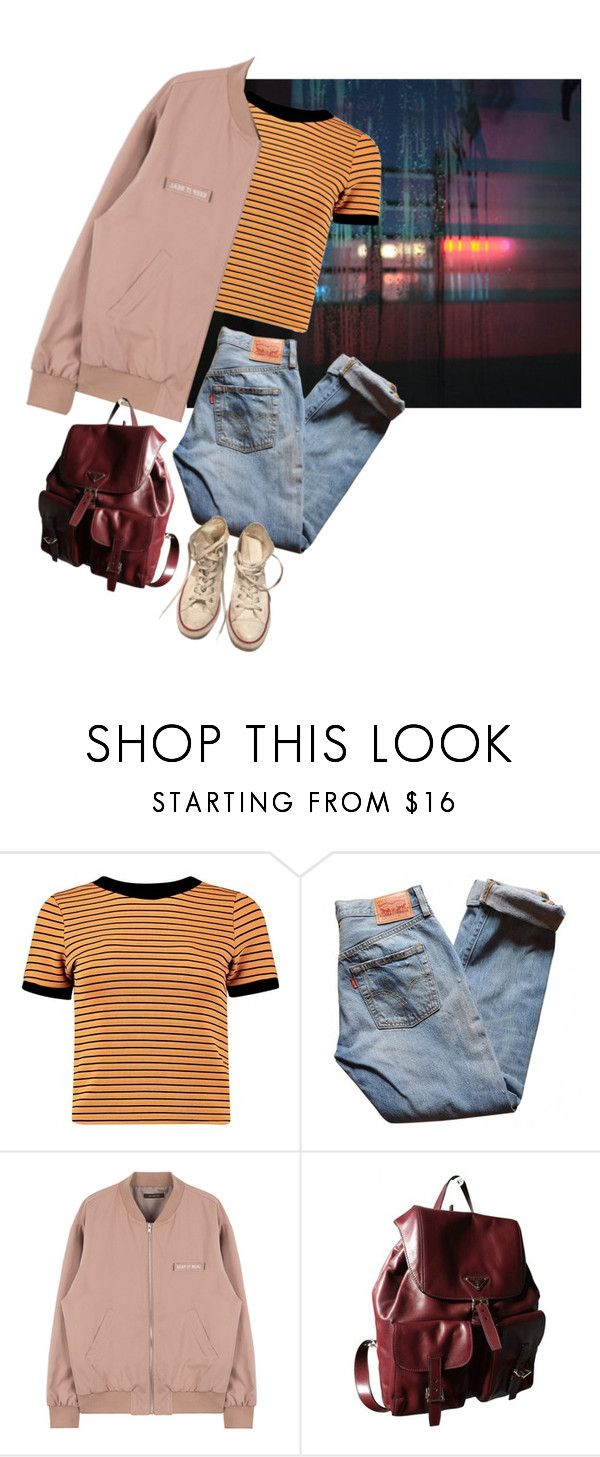"""""""Untitled #168"""" by junk-food ❤ liked on Polyvore featuring Levi's, Prada and Converse"""