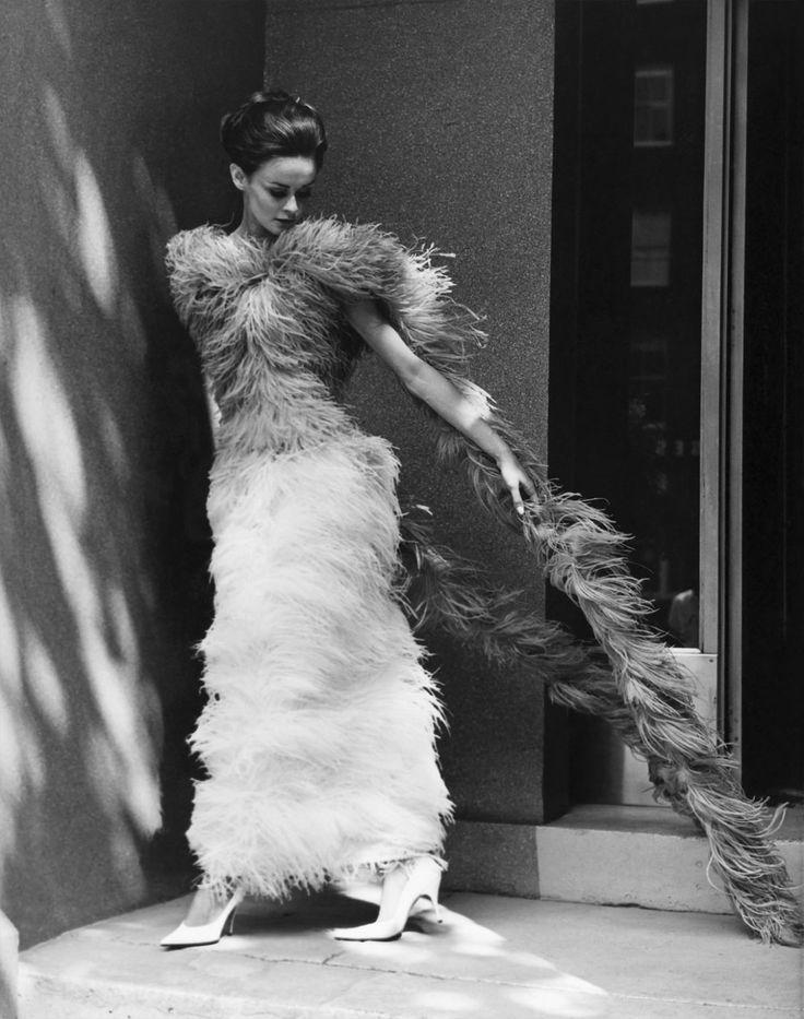 Henry Talbot (Germany 1920 - Australia 1999, Australia from 1940) 'No title (Fashion illustration model wearing long feather dress)' 1961-66