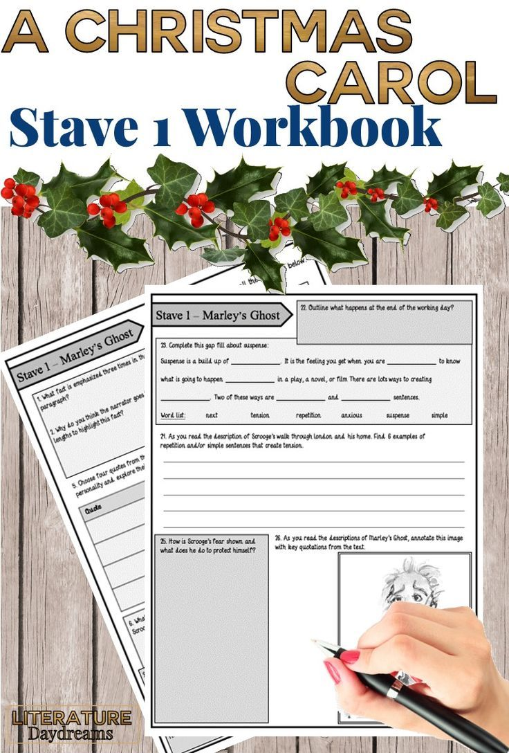 A Christmas Carol Worksheets (Chapter 1) Christmas carol