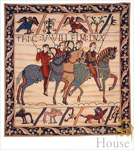 Duke William's cavalry from the Bayeux Tapestry