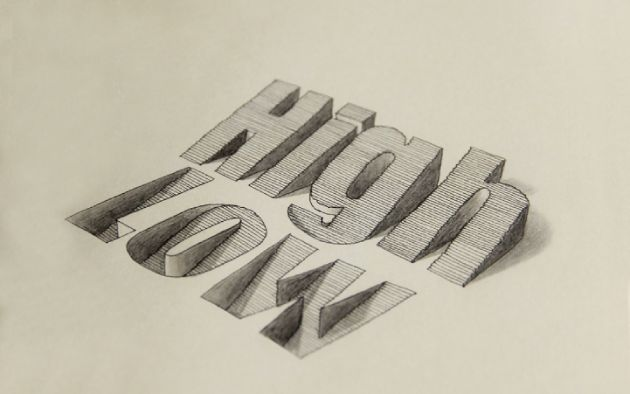 Amazing 3D Hand-Drawn Typography. | You And Saturation