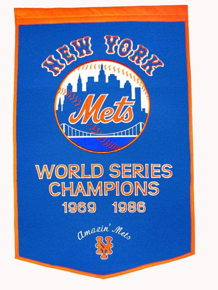 New York Mets Dynasty Banner | New York Mets Championship Banner Shop Here: http://www.mysportsdecor.com/new-york-mets-full-comforter-set-soft-cozy-76x86.html  #newyorkmets #mets #lgm #metsflag