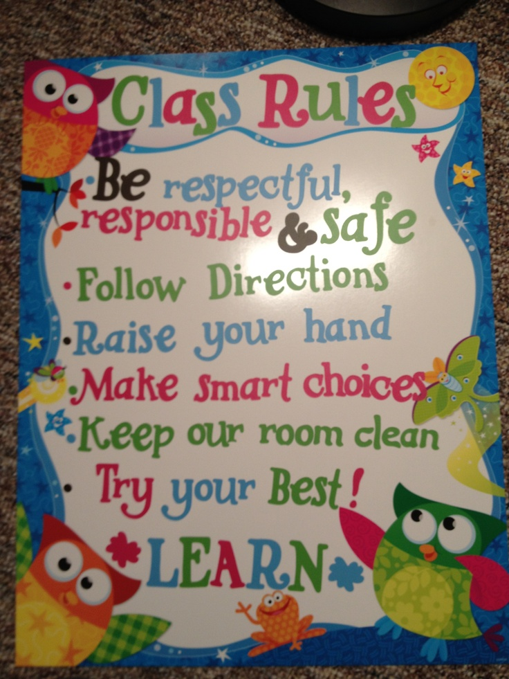 Top 25+ best Class rules poster ideas on Pinterest | Classroom ...