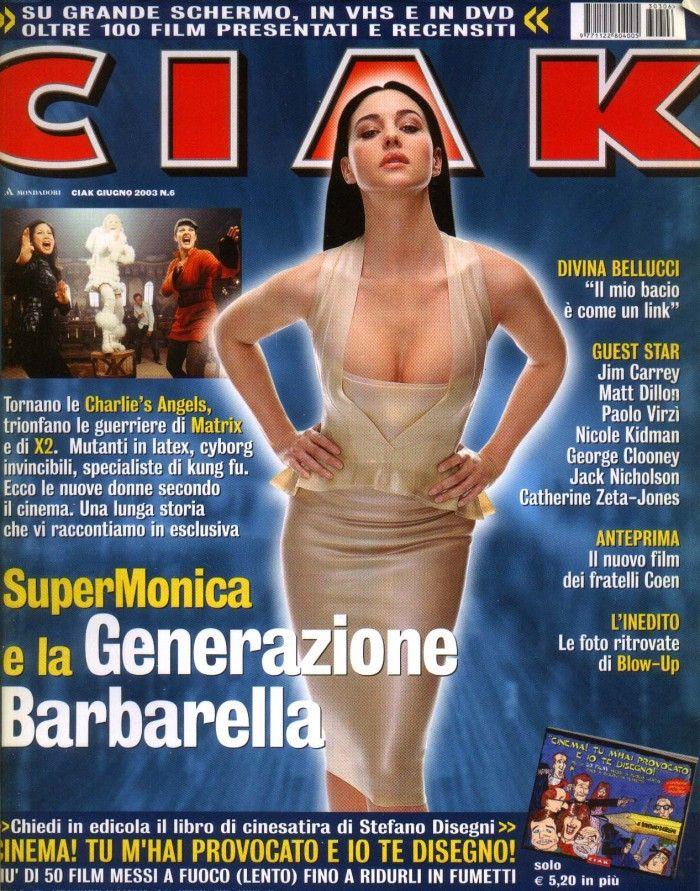Una perfetta copertina della rivista CIAK con Monica Bellucci.