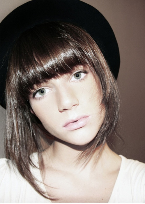Best Hairstyle For Heavy Face : 49 best fringe and bangs images on pinterest