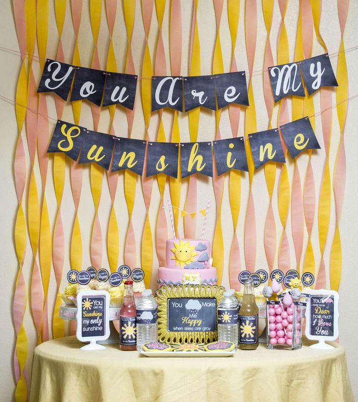 Fun Dessert Table At A Sunshine Baby Shower Party! See More Party Ideas At  CatchMyParty Part 81