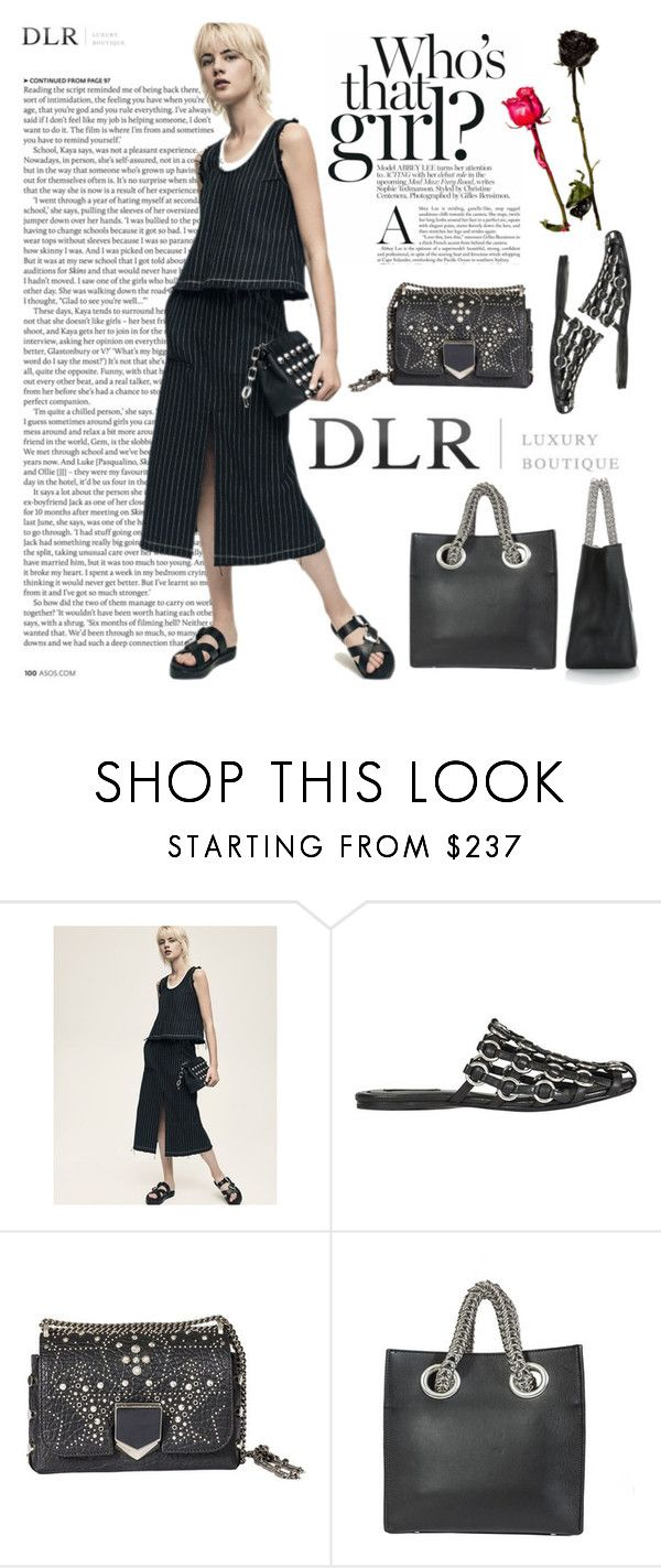 """""""Welcome promo code DLR15"""" by lence-59 ❤ liked on Polyvore featuring ASOS, Alexander Wang and Jimmy Choo"""