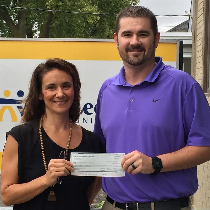 I just had the honor of presenting the cheque to Brad Stark Executive Director of St. Leonard's Community Services for the Recovery Fundraiser we did at @b_movedyoga on Friday. . We raised $3555!  . These funds will be used to help people have access to services by providing them with transportation options as well as emergency food supplies for those who need it. . Yes recovery is possible. First an individual needs their basic human needs met such as food and shelter. Depending on what…
