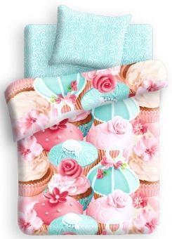 """Непоседа Непоседа, Комплект постельного белья FOR YOU, """"Капкейк"""" 1,5с (розово-голубой)  — 1850р."""