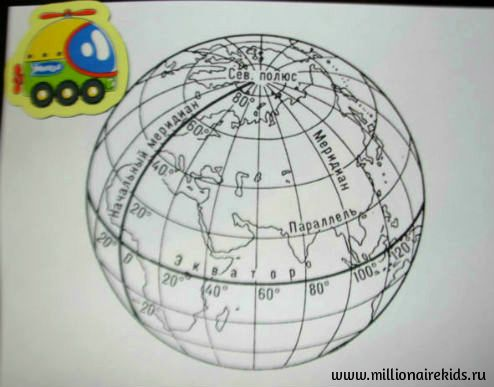 Раскраска глобуса