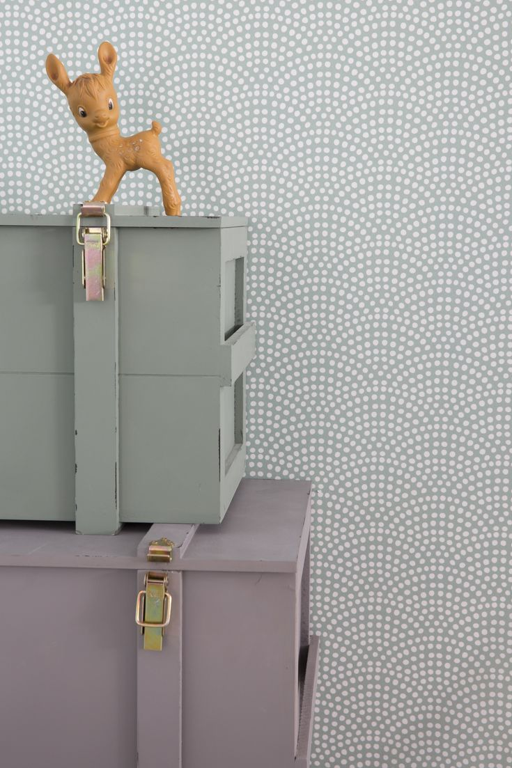 Little Dutch Wallpaper Waves Mint  Cheer up a bland wall in your baby's nursery with our new range of wallpaper! It creates a beautifull starting point for decorating and styling your mini's room.  #baby #nursery #wallpaper #mint #kidsroom #babyroom #nurseryinspiration