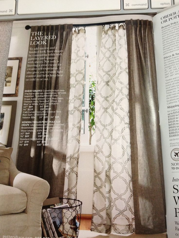 Layered Curtains   Pottery Barn