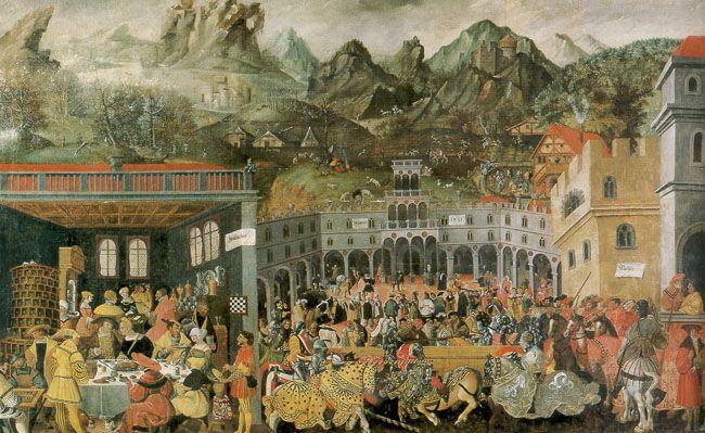 Die Augsburger Monatsbilder - Winter, Augsburg, c. 1520s