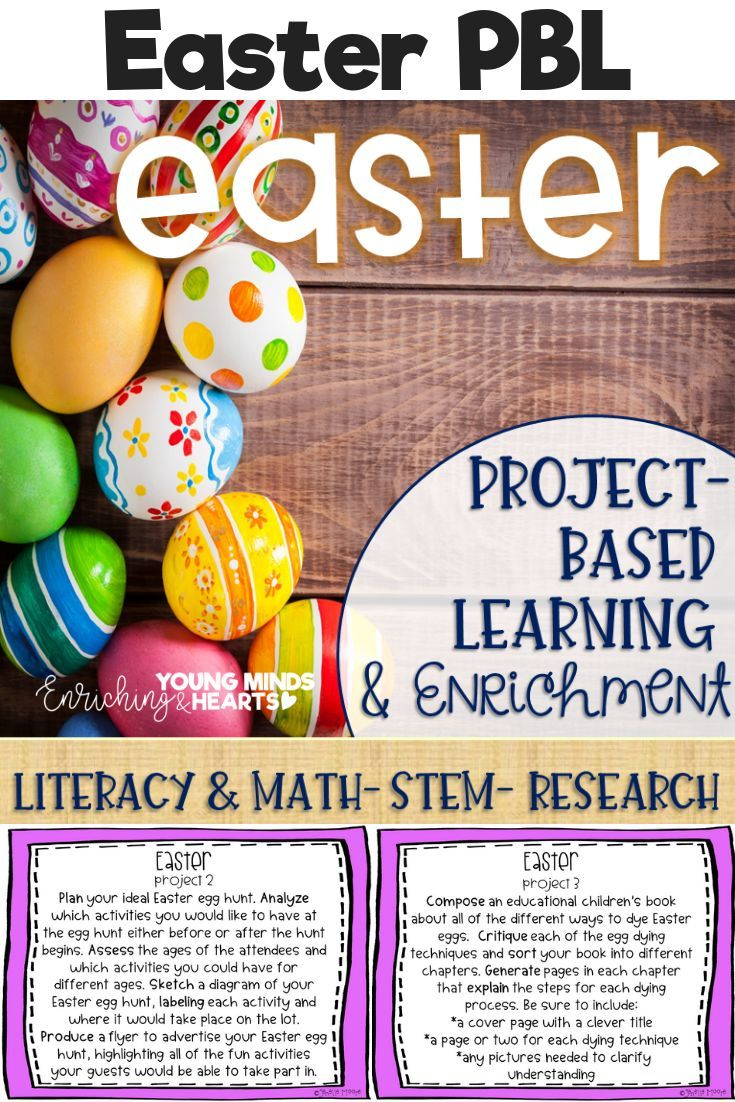 Easter Project Based Learning Enrichment For Literacy Math Stem