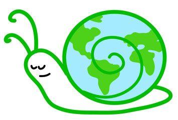 Ecologia: chiocciola col mondo sul guscio
