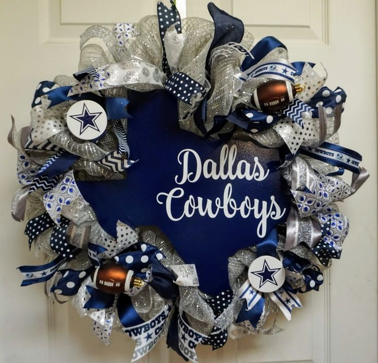Dallas Cowboys Wreath, Cowboys Wreath, Dallas Wreath, Dallas Cowboys Door Hanger, Cowboys Door Decor, Dallas Cowboys Door Decor by Texascaseyscreations on Etsy
