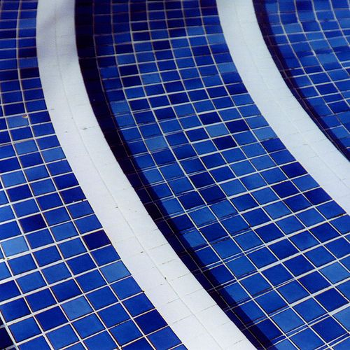 68 best images about pool tile ideas on pinterest Bright blue tile