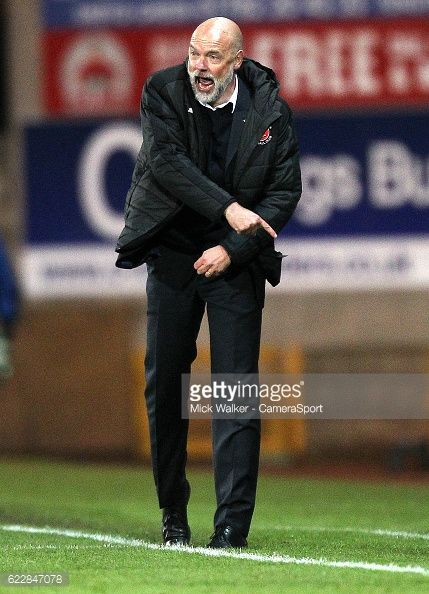 BURSLEM, ENGLAND - NOVEMBER 12: Fleetwood Town's Manager... #portlaoise: BURSLEM, ENGLAND - NOVEMBER 12: Fleetwood Town's… #portlaoise