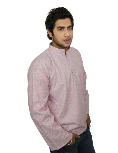 Ethnic Indian Clothing Cotton Shirt Red Grey Stripped Short Kurta XXXL ShalinIndia,http://www.amazon.com/dp/B00IKC94KM/ref=cm_sw_r_pi_dp_tSeHtb03MDB0GPZB