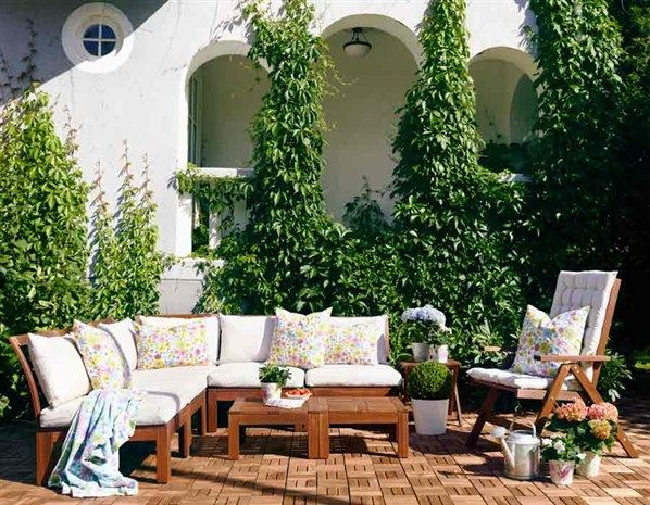outdoor living space from ikea