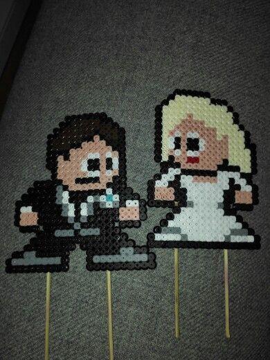 Pixel Art Wedding Cake : 30 best images about *HAMA BODA on Pinterest Perler bead ...